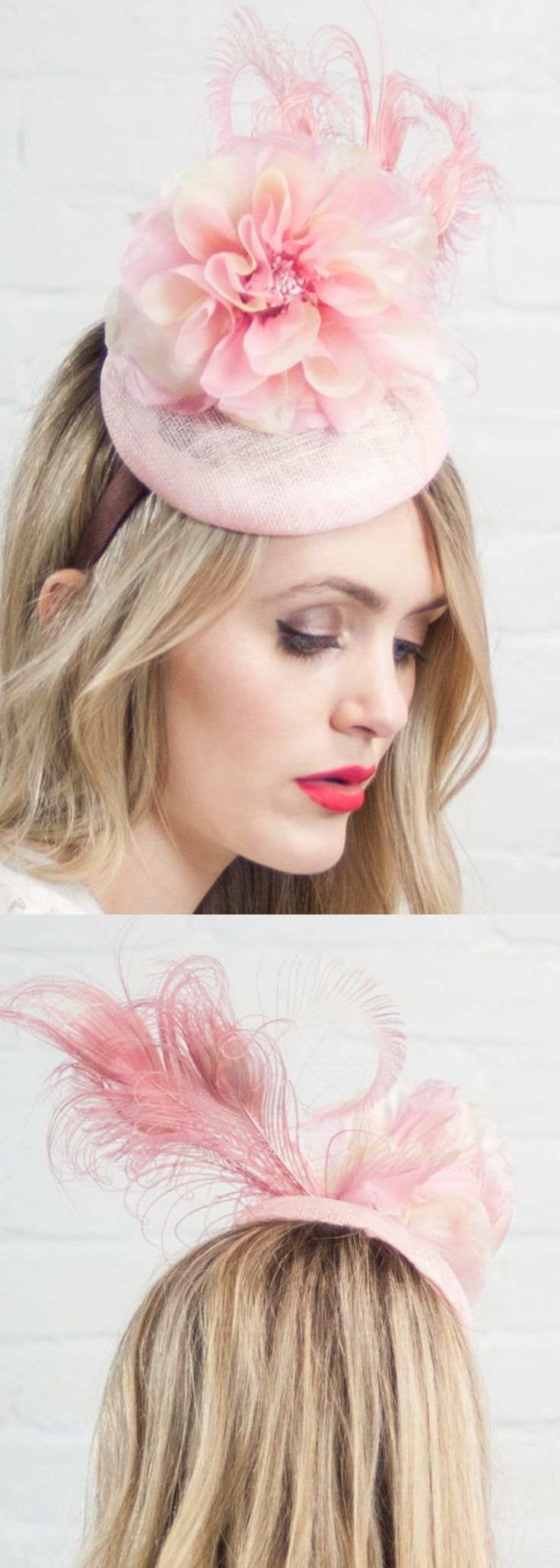 Floral Peacock Feather Kentucky Derby hat saucer fascinator a perfect headpiece for Kentucky Derby, Oaks, or Royal Ascot Race Day outfit, or fun hatinator for mother of the bride in popular pastel pink hues. Outfit inspiration ideas for spring wedding on day at the races outfits. #weddings #weddingplanning #motherofthebride #kentuckyderbyfashion #royalascot #derbydayoutfits #kentuckyderbyparty #motherofthegroom #springwedding #weddingideas #weddinginspiration #affiliatelink #fashion…