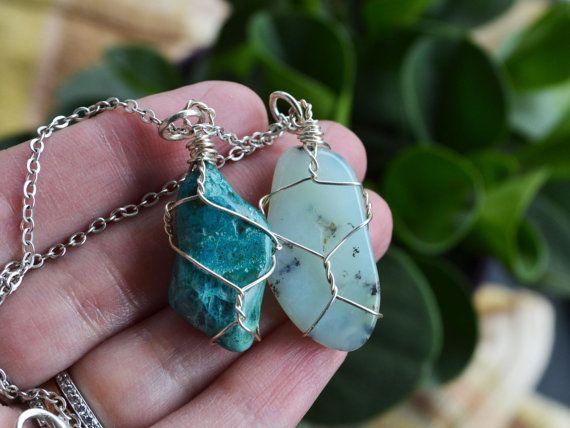 Quantum Quattro Necklace Ocean Stone Rocks and by LOVEnLAVISH