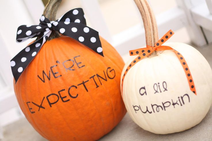 Forget the tricks—this Halloween, treat your friends and family to the news that your baby is on the way.