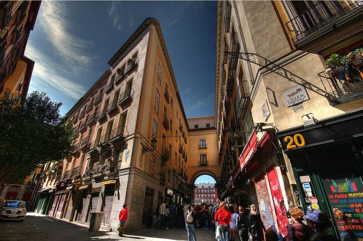 Entrance to Plaza Mayor in Madrid