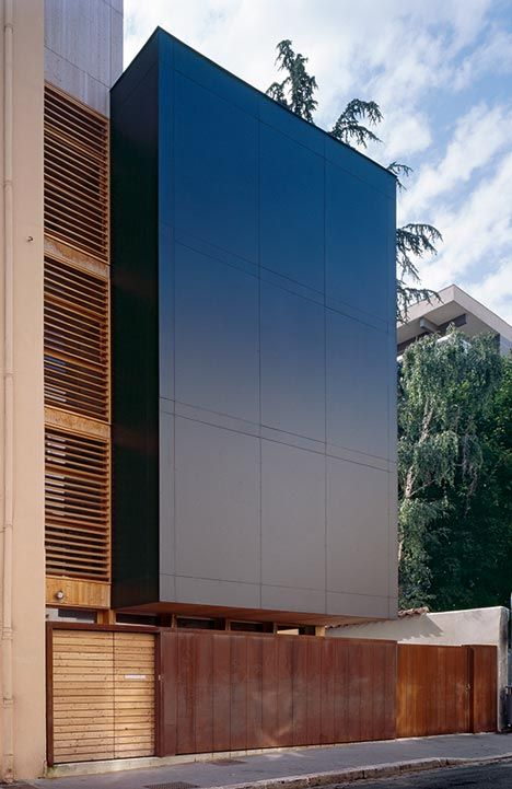 DI-VA house by Tectoniques. Completely prefabricated in wood, the four-storey DI-VA House was constructed in less than a week.