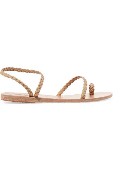 Ancient Greek Sandals - Eleftheria Braided Leather Sandals - Neutral - IT40
