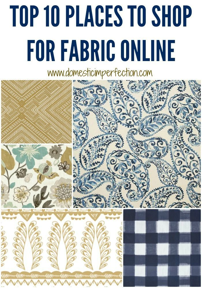The best places to buy fabric online - Never heard of some of these!