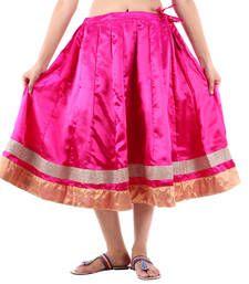Buy Rajasthani Short Satin Lehanga skirt online