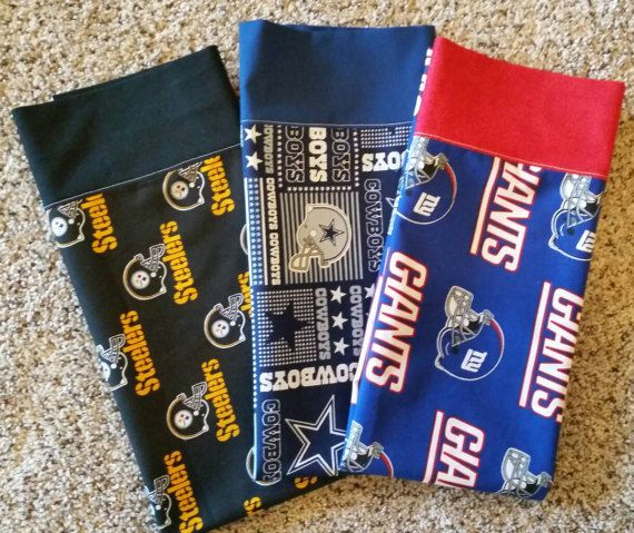 NFL pillowcase.   Choose from Cowboys  Giants by EmilHansDesigns