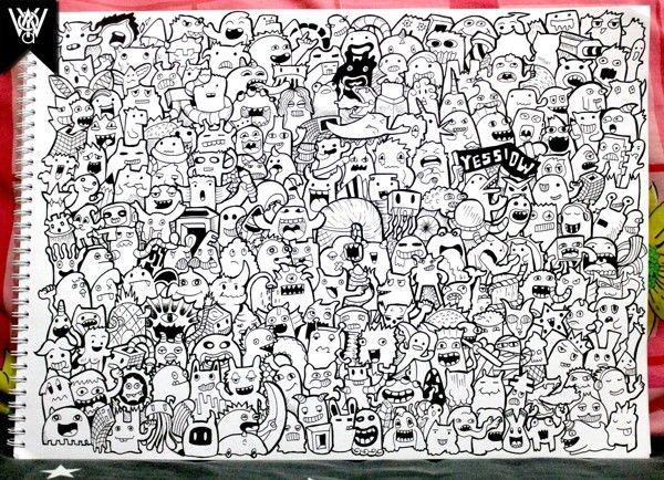 Doodle Art Character Design : Best images about po doodle art on pinterest
