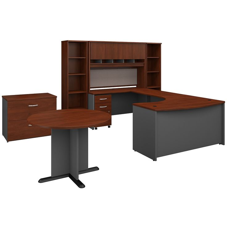 Bush Business Furniture Office Suite SRC099HCSU Hansen Cherry *** More info could be found at the image url-affiliate link. #OfficeFurniture