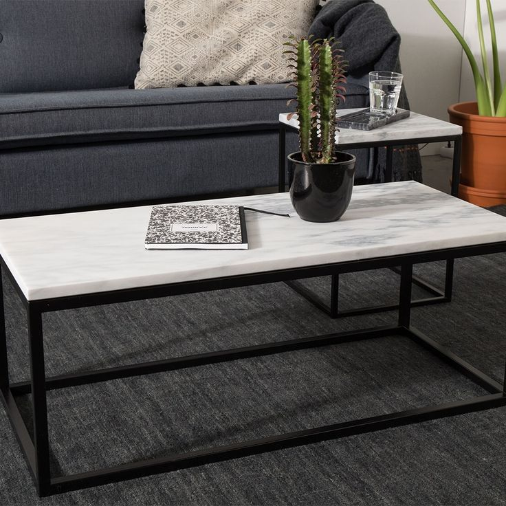 MARBLE TOP COFFEE TABLE with Black Steel Frame | Marble Interiors Trend |  Living Room Inspiration - Best 25+ Marble Top Coffee Table Ideas On Pinterest Marble