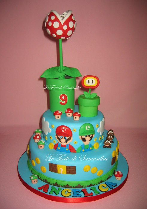20 Best Images About Super Mario Bros Cakes On Pinterest