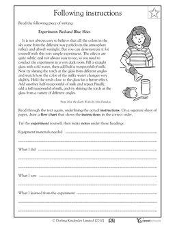 Following instructions - Worksheets & Activities   GreatSchools.grade 5