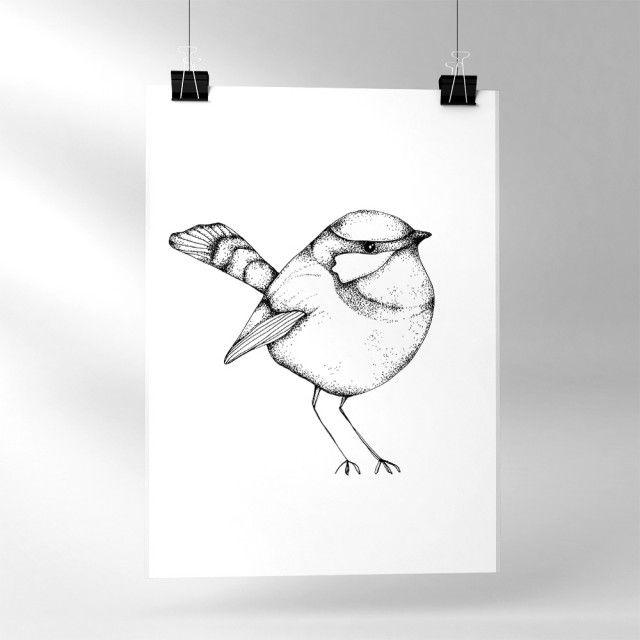 One little birdie - Sofie Rolfsdotter #nordicdesigncollective #sofierolfsdotter #onlittlebirdie #bird #birdie #poster #swedishdesigner