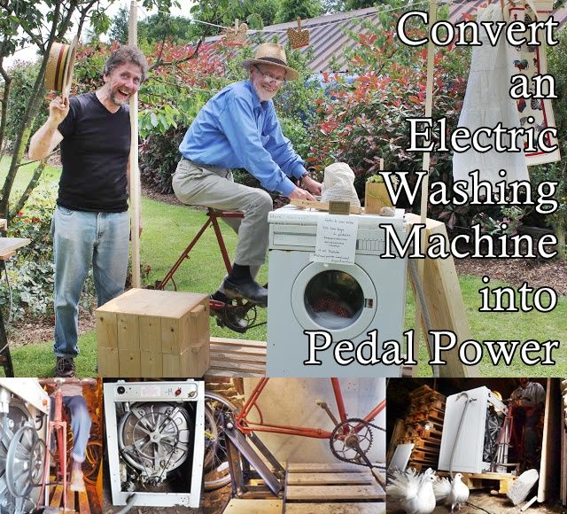 Convert an Electric Washing Machine into Pedal Power DIY Project  Homesteading  - The Homestead Survival .Com