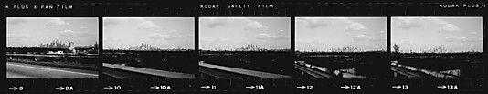 [30 Views of Manhattan Skyline from Queens Roadway, New York City]  Walker Evans 1960s  Met