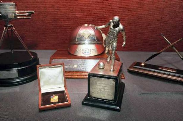 United legend George Best's honours go on display before auction -including his 1968 European Cup winner's medal; an award marking his appearances for Northern Ireland,the 1968 English Football Writers' Association Footballer Of The Year trophy. Manchester Evening News