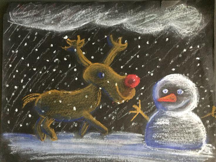 Weihnachtliche Zeichnung zum Thema Schattierung