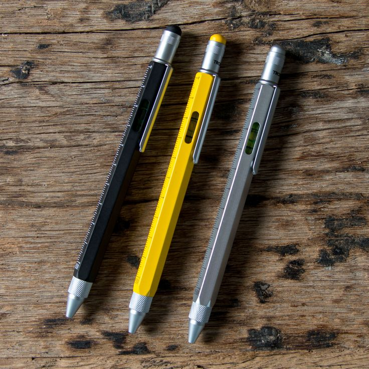 Construction Ballpoint Pen – The Magnolia Market.  Includes a ruler, level, and a screwdriver.  Yellow so it would be easy to locate.