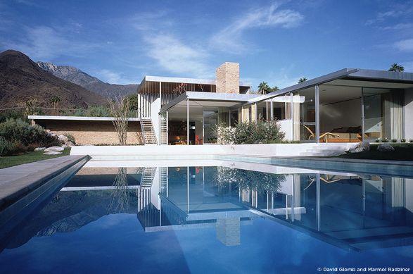 Richard Neutra's - Kaufmann House. 1946. Palm SpringsMid Century Modern, Swimming Pools, Kaufmann House, Dreams Home, House Design, Palm Springs, Palms Spring, Vacations House, Richard Neutra