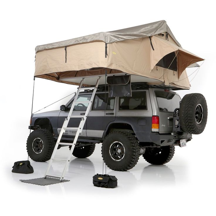Smittybilt is stepping up to the plate with their first offering into the roof top tent market. The Smittybilt Overlander XL RTT is constructed of durable, waterproof 600D rip stop polyester and featu