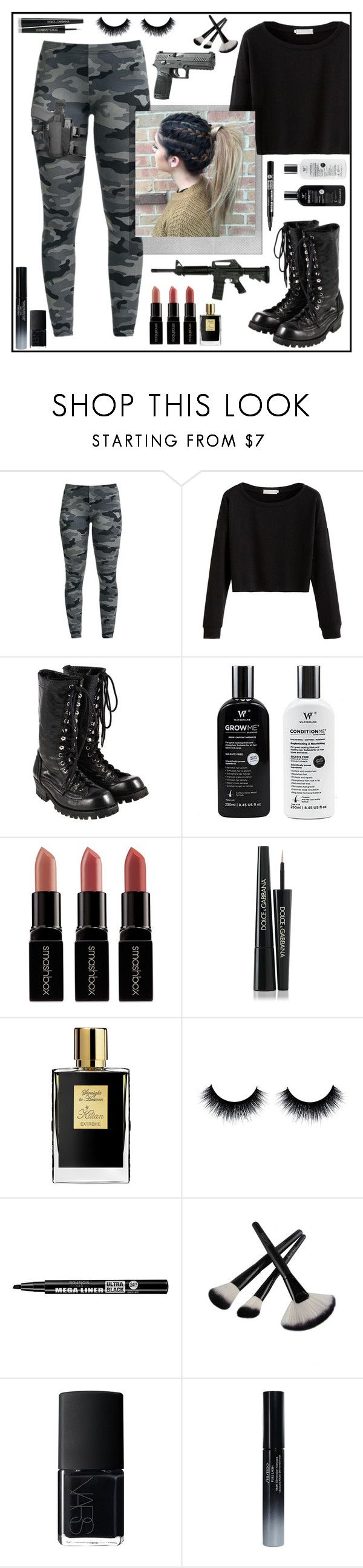 """Warrior Hair"" by janemorguedoe ❤ liked on Polyvore featuring Comme des Garçons, Polaroid, Smashbox, Dolce&Gabbana, Kilian, Bourjois, NARS Cosmetics and Shiseido"
