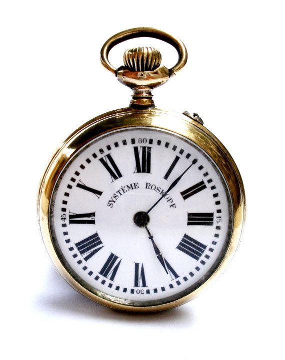 Antiguo Reloj Bolsillo Suizo Systeme ROSKOPF Open por shopvintage1