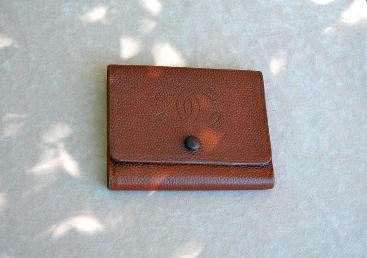 Reserved for William Liptak: Men's wallet, leather trifold by Chanel, 1950's-1960's.