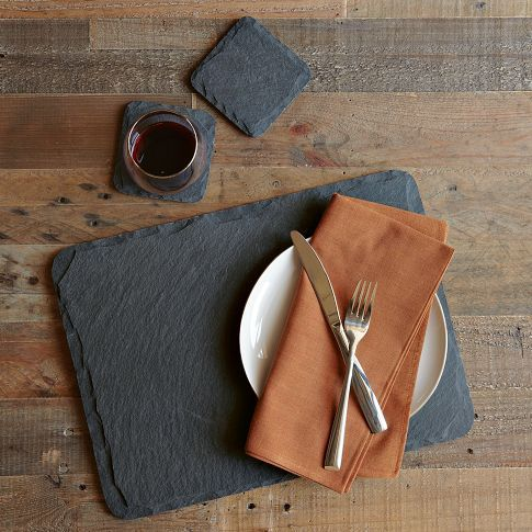 West Elm UK - slate coaster set