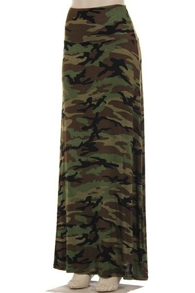 Details About Camo Maxi Skirt So Soft And Sexy Plus Size