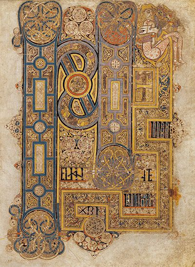 Book of Kells // The Opening Words of Mark's Gospel // Trinity College in Dublin