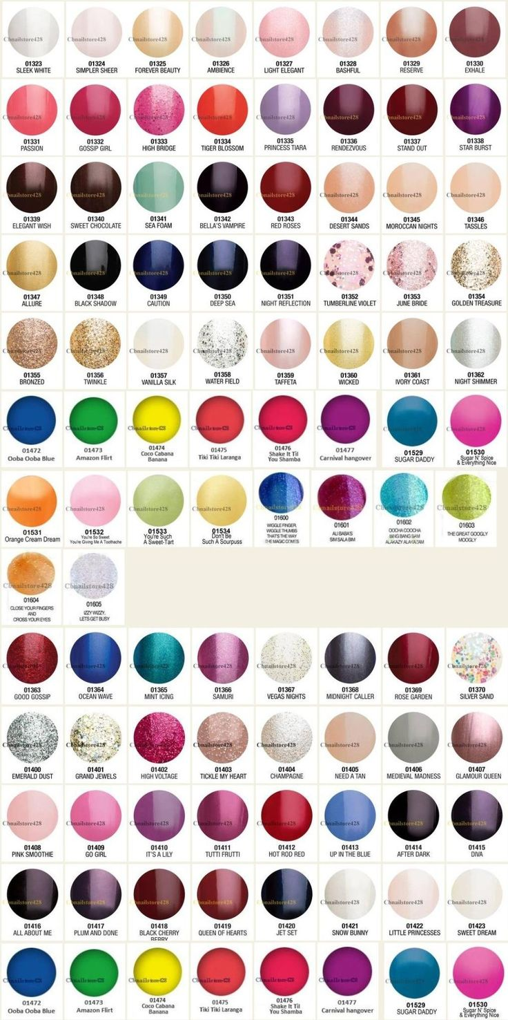 Gelish Color Chart 90 Colors (too bad not every salon has this to choose from)