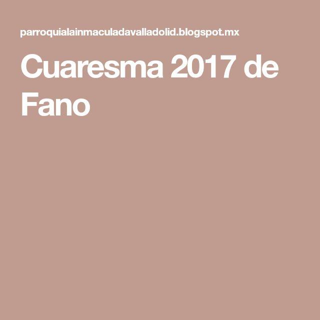 Cuaresma 2017 de Fano