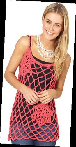 Awesome crochet top, free pattern!