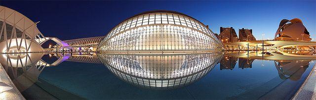 Valencia, night, Santiago Calatrava