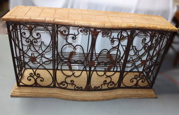 nice Rustic Mediterranean Fashion Wrought Iron Wine Rack Buffet with Fake Marble Prime Check more at https://aeoffers.com/product/wine/rustic-mediterranean-fashion-wrought-iron-wine-rack-buffet-with-fake-marble-prime/