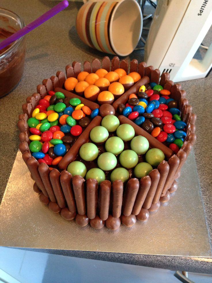 Chocolate, chocolate fingers, malteasers, mms, aero bubbles!