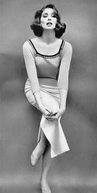 Suzy Parker, photo by Richard Avedon, Harper's Bazaar, January 1956 | flickr skorver1