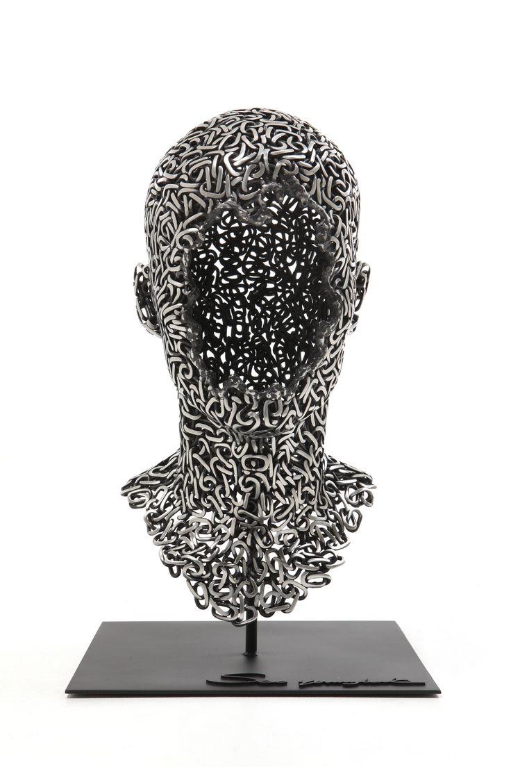 Anguish #23, Stainless chain, 30 x 30 x 50 cm,  2014