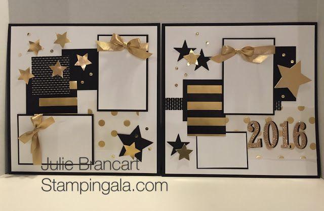 Julie Brancart, www.stampingala.com, Monthly Scrapbook Club, Stampin Up