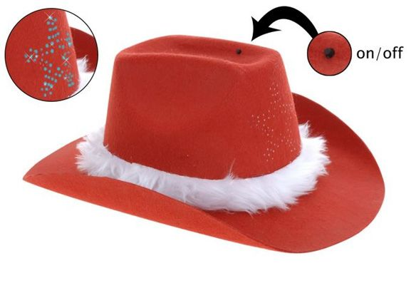 Christmas cowboy hat for adults