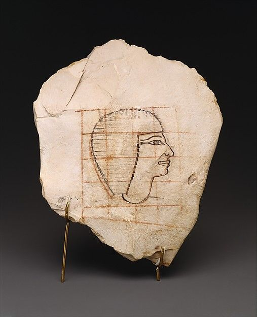 Gridded sketch for an artist - Egypt, ~1479–1458 B.C.E.