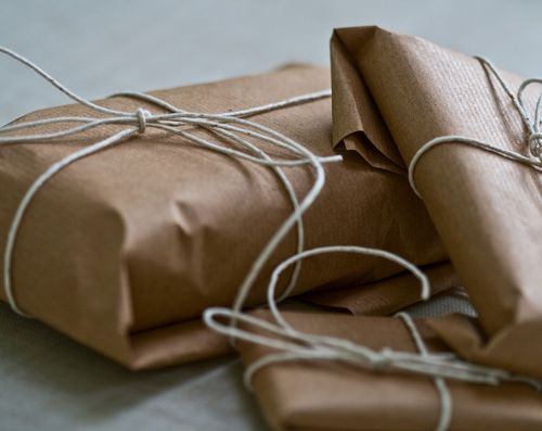 I love brown paper packages tied up with string. Reminds me of Mr. Tumnus & Lucy's first meeting... and The Sound of Music.