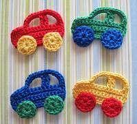 Autitos tejidos al crochet para decoración infantil y otros - Reflejos Femeninos - Moda, Belleza, Tendencias, Salud, Espectáculos...