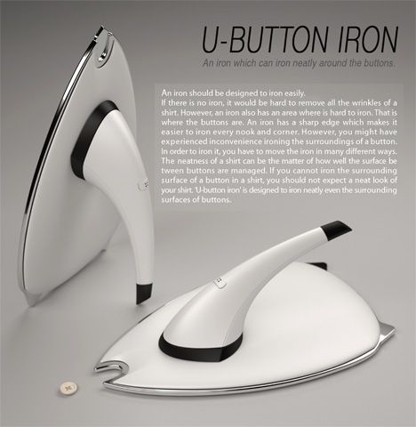 This right here, is genius. U-Button Iron by Jun-kyo Lee & Jin-young Yoon » Yanko Design