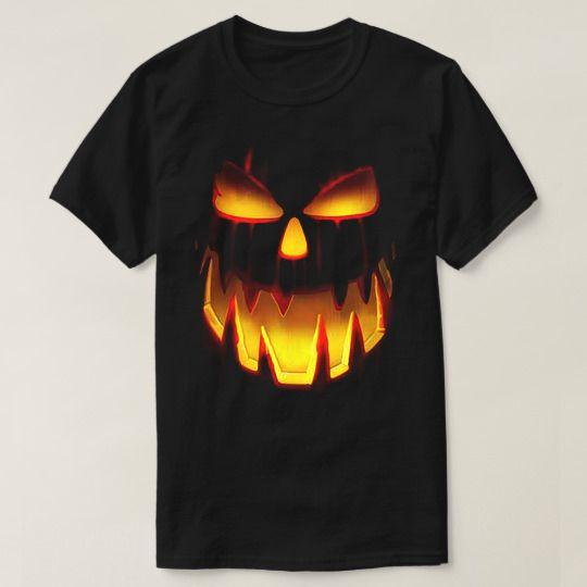 Face Pumpkin In The Dark Halloween Custom Shirts