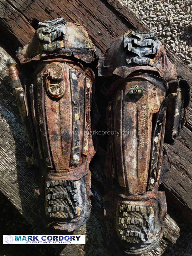 Post Apocalyptic Mad Max armour (greaves) made by Mark Cordory Creations…