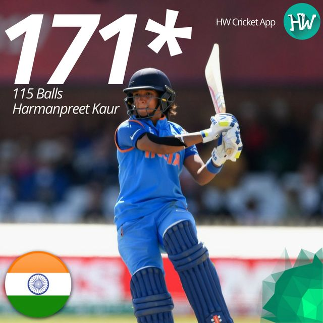 Harmanpreet Kaur was absolutely brilliant today! What a fiery innings! She helped India storm into the Finals! #WWC17 #AUSvIND #AUS #IND #cricket