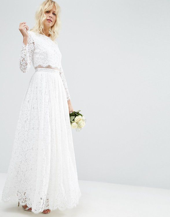 Asos Bridal Asos Wedding Dress Maxi Dress Prom Long Sleeve Maxi Prom Dress