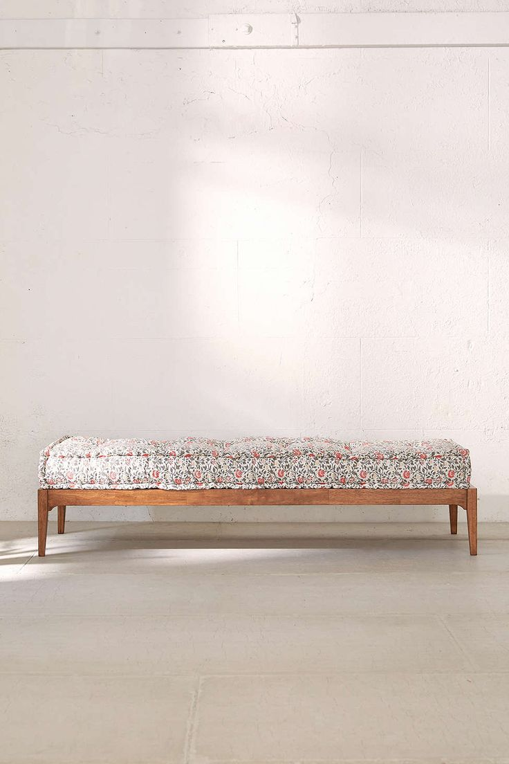 """Hopper Daybed $298 Dimensions: 72"""" L x 27""""w x 11"""" h Twin mattress dimensions = 38"""" w X 75""""L"""