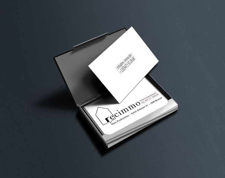 Second Clean design for Businesscards for rec-immo - http://www.rec-immo.be