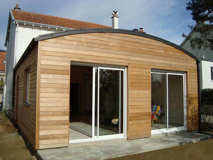 agrandissement bois maison commerce jardin cloture With delightful maison bois toit plat 9 extensions nord maison bois nord
