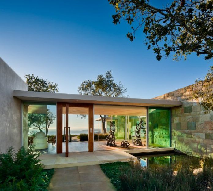 Contemporary Elegant Entrance Design Of Carpinteria Foothills Residence By  Neumann Mendro Andrulaitis Architects   Californiau0027s Home, Design And Gifts  ...